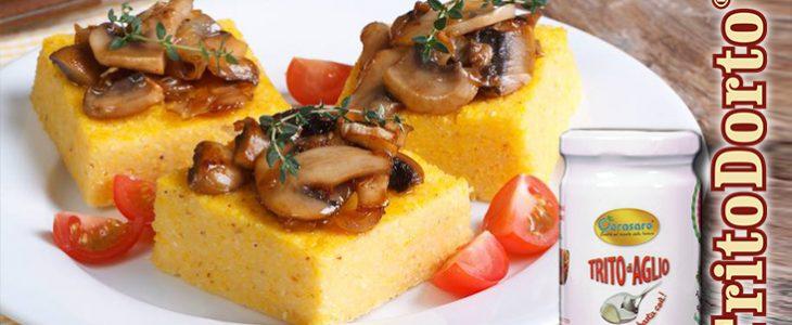TritoDorto d'aglio in: quadretti di polenta