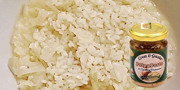 PolpaDorto Cipolla e Rosmarino in: Minestra di riso e verze