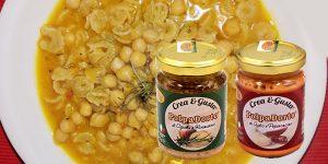 PolpaDorto Cipolla e Rosmarino con PolpaDorto aglio e peperoncino in: Pasta e Ceci