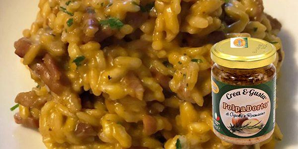 PolpaDorto Cipolla e Rosmarino in: Risotto Zucca e Speck