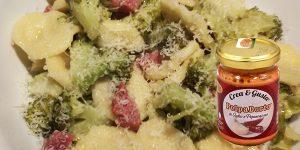 PolpaDorto Aglio e Peperoncino in: orecchiette broccoli e salame
